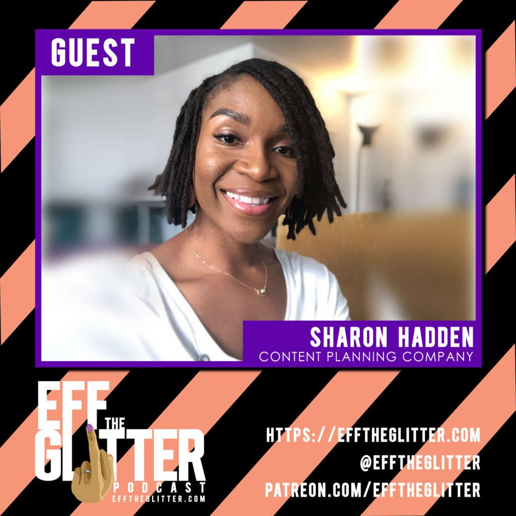 Guest for Eff the Glitter Sharon Hadden of The Content Planning Company
